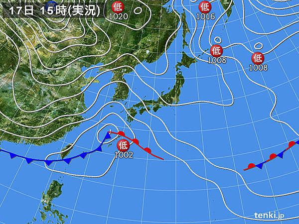 2016.1.17の天気図