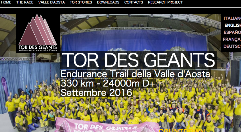 Home page   Tor des Geants