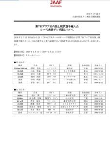 アジア室内代表選手リスト