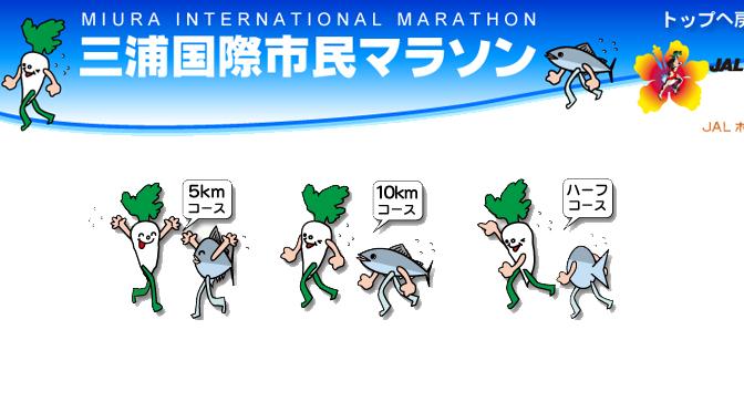 第34回2016三浦国際市民マラソン 今年も雨だけど寒くはない模様