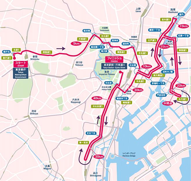 東京マラソンコース案
