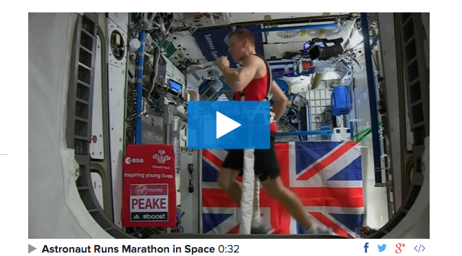 Space Race  Astronaut Runs London Marathon