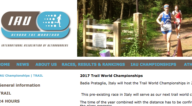 2017 IAUトレイル世界選手権代表派遣選手選考要項