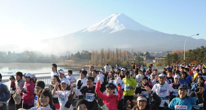 マラソン大会初!「完走時間でポイントがたまる」富士山マラソン2016