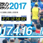 第27回かすみがうらマラソン兼国際盲人マラソン 2017年4月16日開催