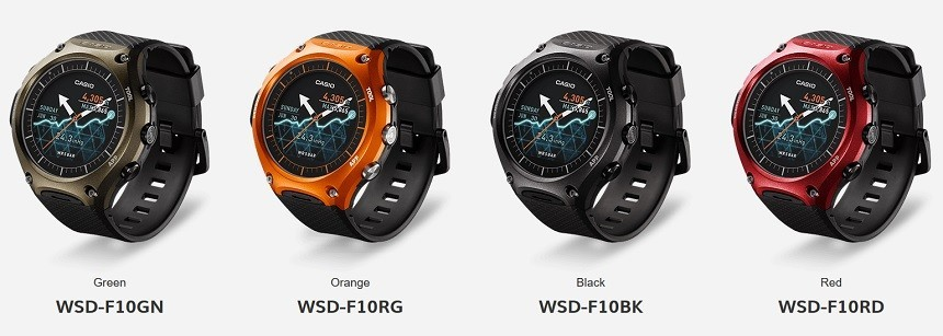 Casio America WSD-F10 Smart Outdoor Watch 50m防水、500ドル程度の見込み