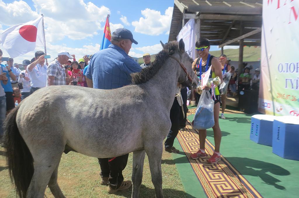 2歳馬とのこと。名前をつけてモンゴルで育ててくれるそうです。