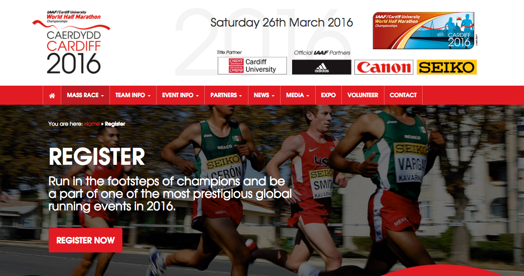 Cardiff University World half Marathon Championships  Cardiff 2016