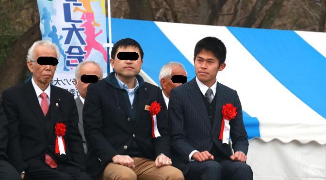 第一回久喜マラソン スーツで激走する川内優輝選手