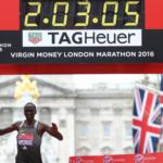 ロンドンマラソン兼2016IPCマラソン世界選手権 結果上位 エリウド・キプチョゲ世界記録まであと8秒に迫る2時間3分5秒