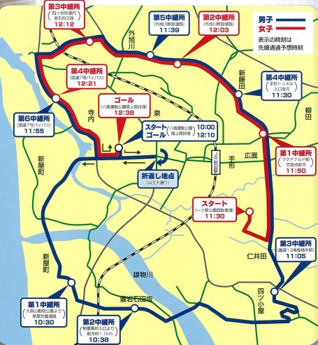 秋田県高校駅伝コース