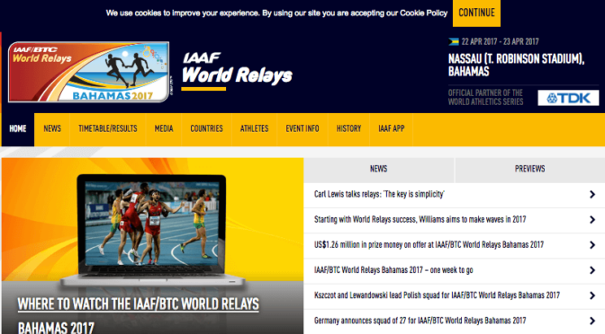 IAAF 世界リレー大会 2017 バハマ・ナッソー